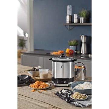 WMF KÜCHENminis Reiskocher mit Lunch-to-go-Box , Damfgarer, platzsparend, Extra To-Go-Deckel macht den Innentopf (1,0l) ohne Umfüllen zur festverschlossenen Lunchbox zum Mitnehmen, 220 W - 16