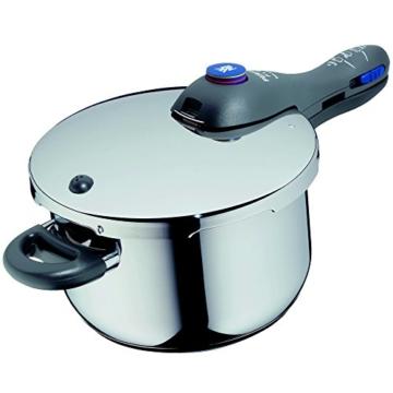 WMF Perfect Plus Schnellkochtopf 4,5l, Cromargan Edelstahl poliert, 2 Kochstufen Einhand-Kochstufenregler, induktionsgeeignet, spülmaschinengeeignet, Ø 22 cm - 2