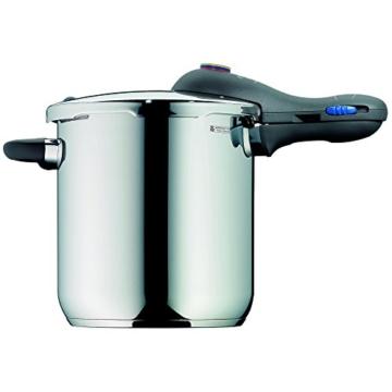 WMF Perfect Plus Schnellkochtopf 8,5l mit Einsatz-Set, Cromargan Edelstahl poliert, 2 Kochstufen Einhand-Kochstufenregler, induktionsgeeignet, spülmaschinengeeignet, Ø 22 cm - 2
