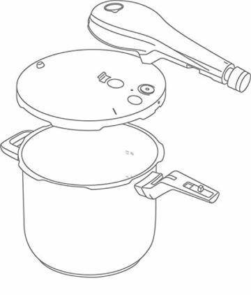 WMF Perfect Premium Schnellkochtopf Set 2-teilig 6,5l & 3,0l mit Einsatz-Set, Cromargan Edelstahl poliert, 2 Kochstufen Einhand-Kochstufenregler, induktionsgeeignet, spülmaschinengeeignet, Ø 22 cm - 3