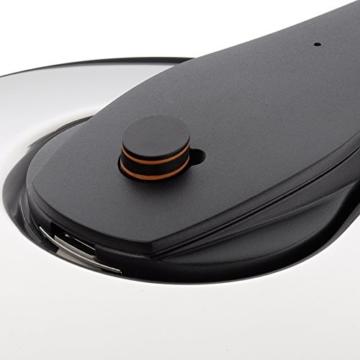 WMF Perfect Pro Schnellkochtopf 6,5l, Cromargan Edelstahl poliert, 2 Kochstufen All-In-One Drehknopf, induktionsgeeignet, spülmaschinengeeignet, Ø 22 cm - 6